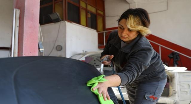 Sanayi sitelerinin kadın ustaları, erkeklere taş çıkartıyor