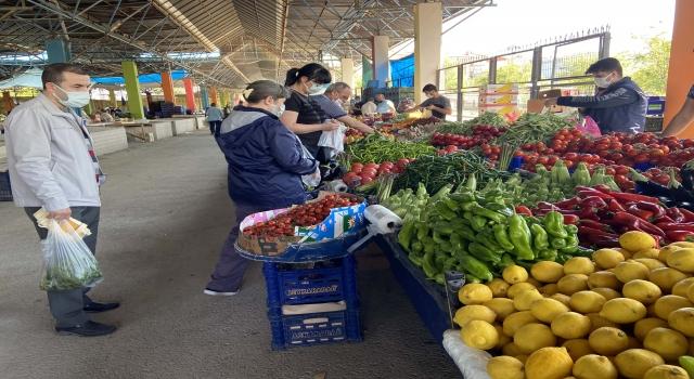 Trakya'da vatandaşlar Kovid19 tedbirleriyle pazarlara alınıyor