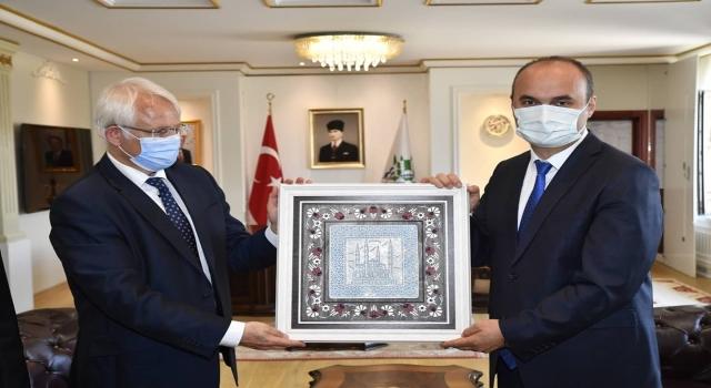 Almanya İstanbul Başkonsolosu Regenbrecht, Edirne Valisi Canalp'i ziyaret etti