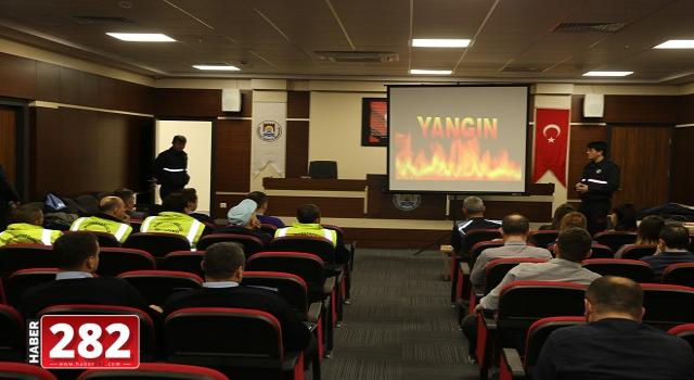 Marmaraereğlisi Belediye Personeline İtfaiye Eğitimi Verildi