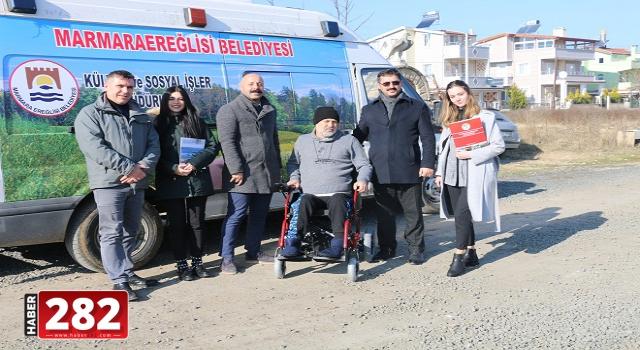 Marmaraereğlisi Belediyesi'nden Engellilere, Akülü Tekerlekli Sandalye ve Yürüteç Yardımı