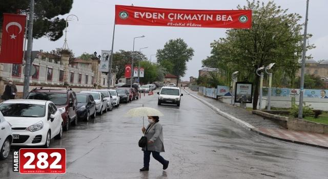 Edirne ve Tekirdağ'da yağmur etkisini sürdürüyor