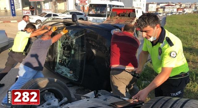 Kapaklı'da trafik kazası: 1 yaralı