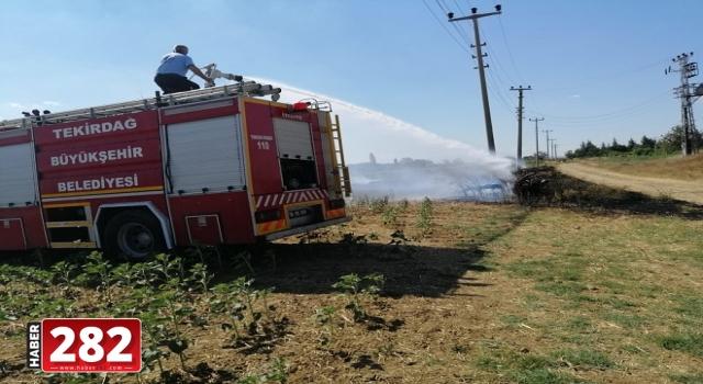 Malkara'da saman ve anız yangını