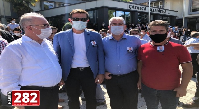 Başkan Yüksel eski Çatalca Belediye Başkanı Cem Kara'nın cenazesine katıldı