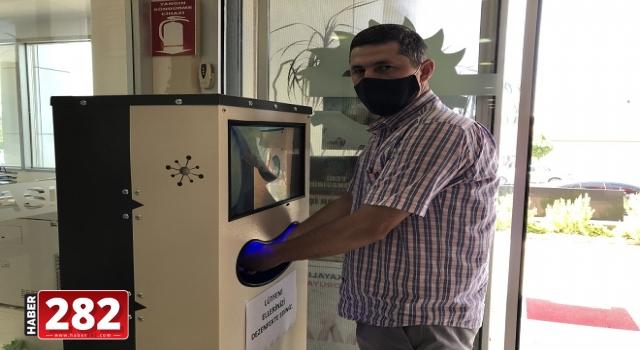 Ergene Belediyesi'ne yeni nesil el dezenfektan otomatı