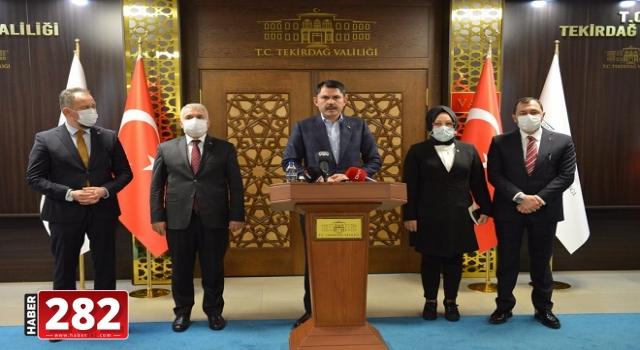 Bakan Kurum kentsel dönüşüm için Süleymanpaşa'ya geldi