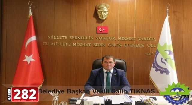 """Ergene Belediye Başkan Vekili Salih Tıknas'ın """"Enerji Tasarrufu Haftası"""" Mesajı"""