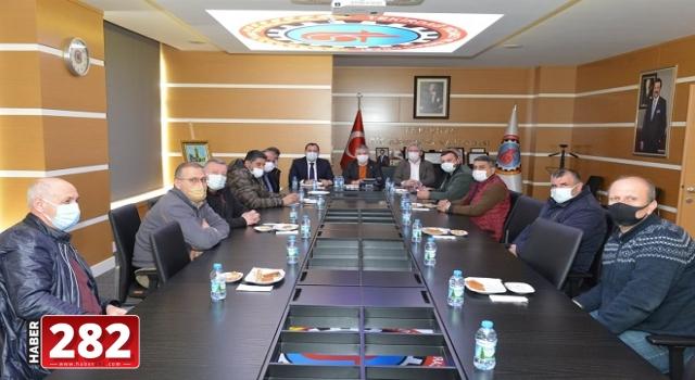 Başkan Yüksel ekmek fiyatının belirlendiği komisyon toplantısına katıldı