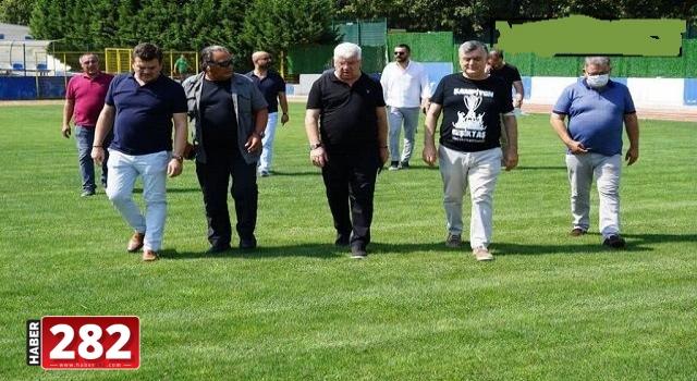 Beşiktaşlı yöneticiler Ergene Velimeşespor'un tesislerine hayran kaldı