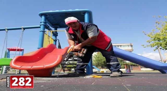 Ergene Belediyesi Oyun Parklarına Bakımını Sürdürüyor