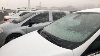 Çorlu ve Ergene'de kar yağışı başladı