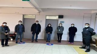 AK Parti Edirne Milletvekili Aksal aşı merkezini ziyaret etti