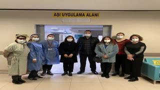 AK Parti Edirne Milletvekili Aksal'dan aşı merkezine ziyaret