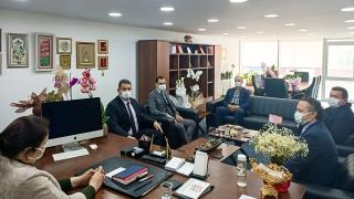Sağlık Müdürü Yıldırım'dan AK Parti Edirne İl Başkanı İba'ya hayırlı olsun ziyareti