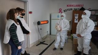 Kırklareli'nde öğrenciler kadın filyasyon ekiplerini ziyaret etti
