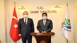 Sri Lanka Cumhuriyeti Ankara Büyükelçisi Hassen'den, Edirne Valisi Canalp'e ziyaret
