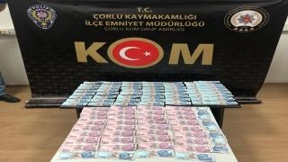 Tekirdağ'da sahte para operasyonunda bir şüpheli tutuklandı