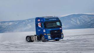 Ford FMAX, donmuş Baykal Gölü üstünde hız rekoru kırdı
