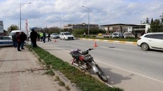Edirne'de motosikletin çarptığı kadın ağır yaralandı
