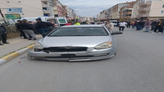 Kapaklı'da otomobil ile motosiklet çarpıştı: 1 yaralı