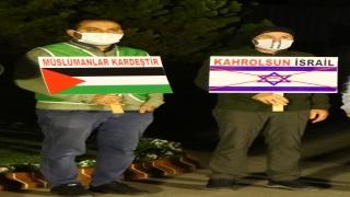 İsrail'in Mescidi Aksa'ya yönelik saldırıları Tekirdağ'da protesto edildi
