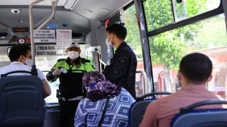 Trakya'da taksi ve dolmuşlar kademeli normalleşmenin ilk gününde denetlendi