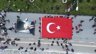 """Bakan Kasapoğlu, """"Atatürk ve İstiklal Yolu Yürüyüşü""""ne katıldı"""