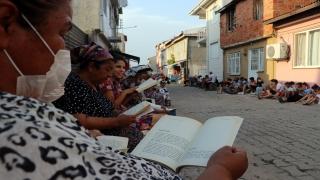 Edirne'de bir mahallede okul müdürü ve muhtarın girişimiyle okuma seferberliği başlatıldı