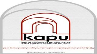 Trakya Üniversitesi'nin 'Kapu/Trakya mimarlık ve tasarım' dergisi yayın hayatına başlıyor