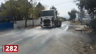 Kırsal mahalleler dezenfekte ediliyor