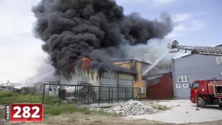 dirne'de bir yapı marketin deposundaki yangın kontrol altına alındı