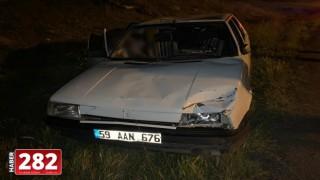 Malkara'da otomobilin çarptığı 2 kişi yaralandı