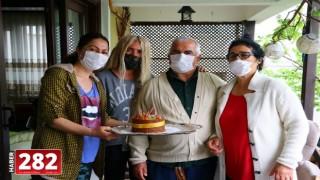 Tekirdağ'da evlerinden çıkamayan yaşlı çifte sürpriz 49'uncu evlilik yıldönümü kutlaması