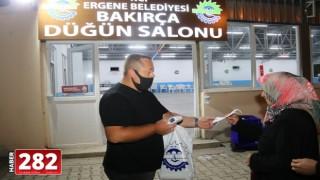 Ergene Belediyesi Düğün Salonlarında da Virüse Karşı Sıkı Önlem Alınıyor
