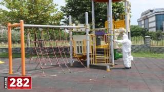 Ergene'de Oyun Parklarında Dezenfekte Çalışmaları Devam Ediyor