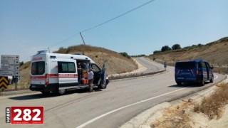 Malkara'da kamyonetle otomobil çarpıştı: 3 yaralı