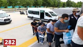 Tekirdağ'da FETÖ operasyonunda gözaltına alınan 6 zanlı adliyeye sevk edildi