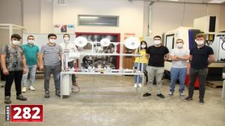 """Tekirdağ'da öğretmenler """"cerrahi maske üretim makinesi"""" yaptı"""