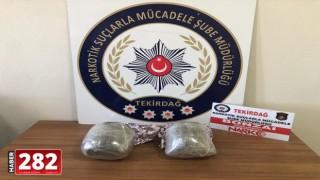 Tekirdağ'da uyuşturucu operasyonunda 2 şüpheli yakalandı