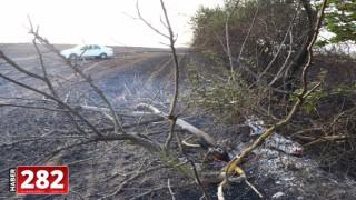 Tekirdağ'da yangın sonucu 200 dönüm ekili alan zarar gördü
