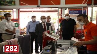 Çerkezköy'de maske denetimi yapıldı