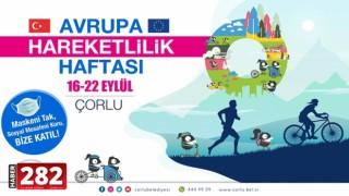 Çorlu'da Avrupa Hareketlilik Haftası Etkinlikleri Başlıyor