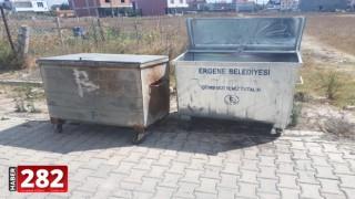 Ergene Belediyesi Eski Çöp Konteynırlarını Yeniliyor