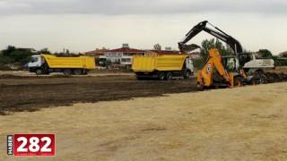 Ergene Belediyesi Vakıflar Spor Kompleksi'nin Yapımına Başladı