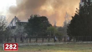 Tekirdağ'da boya fabrikasında yangın çıktı