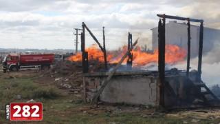 Tekirdağ'da tandırdaki közün neden olduğu yangın söndürüldü
