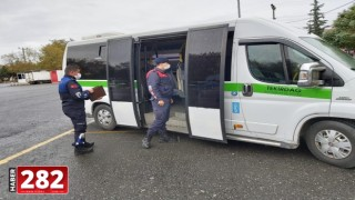 Ergene'de Toplu Taşıma Araçlarında Covid19 Denetimleri Yapıldı