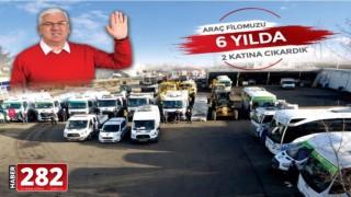 Ergene Belediyesi 6 Yılda Araç Sayısını 2 Katına Çıkardı