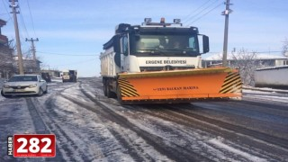 Ergene Belediyesi Kar Yağışının Çileye Dönmesini Önledi